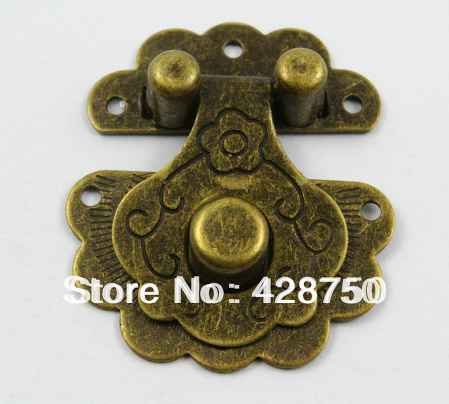 Antique Brass Jewelry Box Hasp Latch Lock 36x40mm with Screwsin