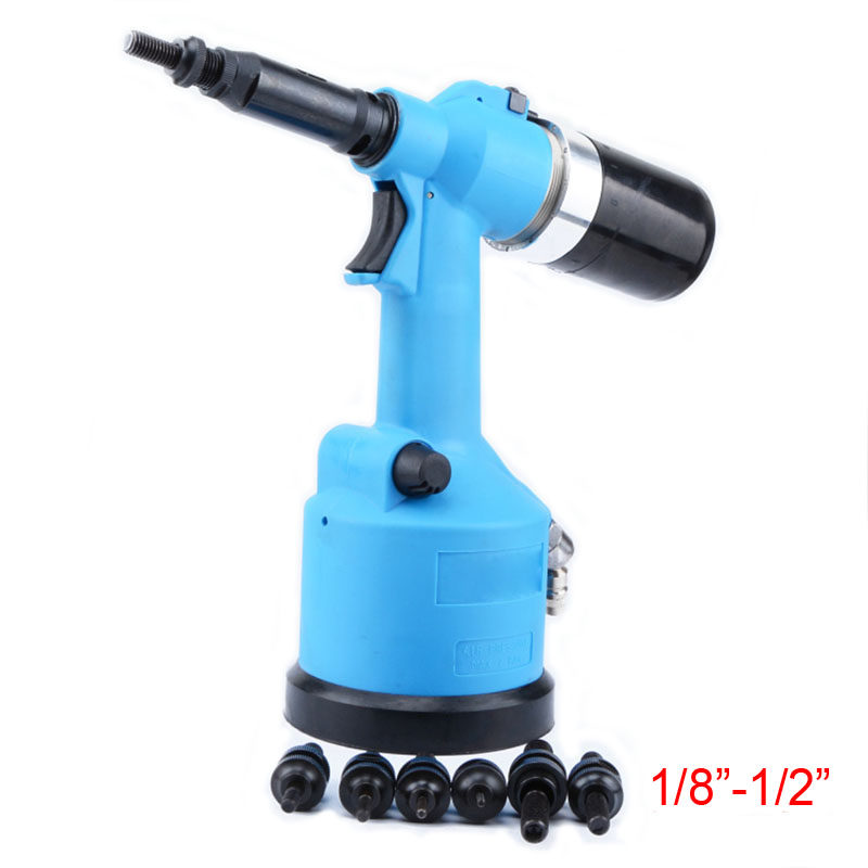Fully Automatic Rivet Nut Pneumatic Riveter Pneumatic Hydraulic Pull Cap Gun Automatic Rivet Nut Pneumatic Tool 1/8