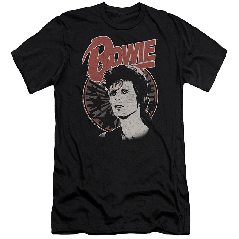 T Shirt Shop Short Men David Bowie Space Oddity-S S Adult 30 1-Black O-Neck Tall T Shirt