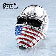 Байер черепа флаг байкер личность завода американский цена кольца нержавеющей стали