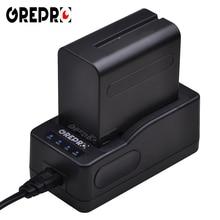 GREPRO LED Ultra Rápido Carregador de Bateria para Câmera Sony NP-QM91D, QM71D, TR516, TR716 NP-F960 F970 F750 F770 F550 F570 NP-FM50 FM55H