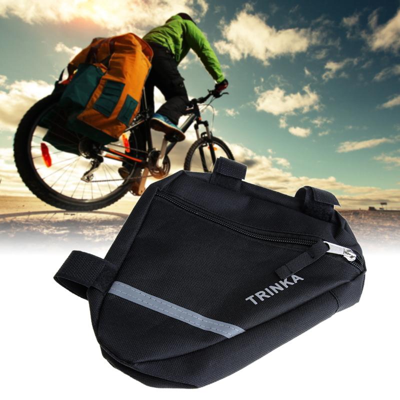 Gorąca sprzedaż Wodoodporne Torby Trójkąt Saddle Bag Rowerów Jazda Na Rowerze Rower Przednia Tube Rama Etui akcesoria Sakwy H1E1 1