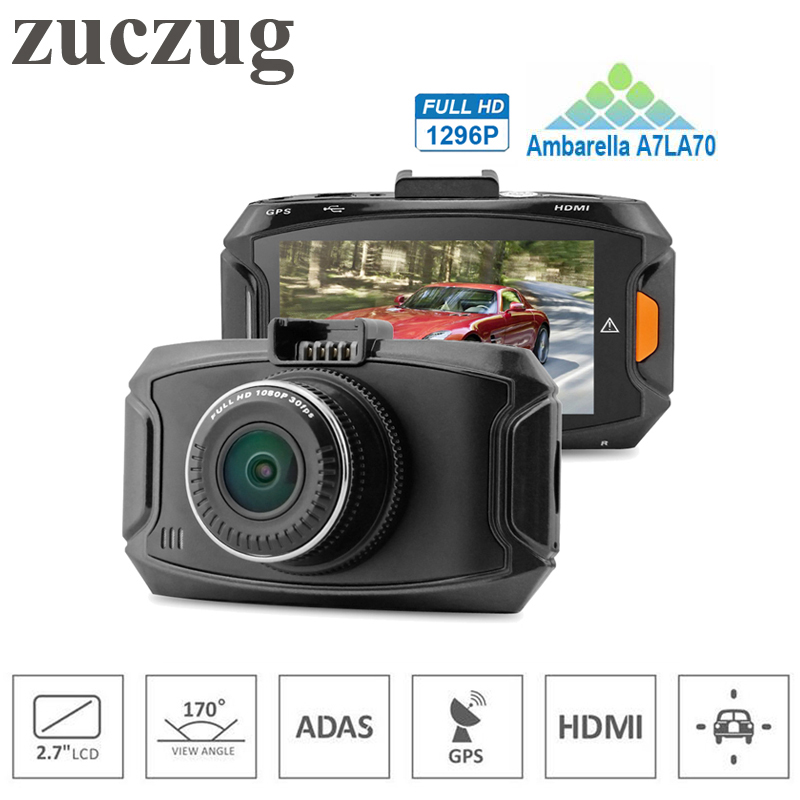 ZUCZUG GPS Car DVR Mini ADAS Car Camera Ambarella CPU A7LA70 Full HD 1296P 170 Degrees Wide Angle with G-Sensor HDR Dash Cam waterproof touch keypad card reader for rfid access control system card reader with wg26 for home security f1688a