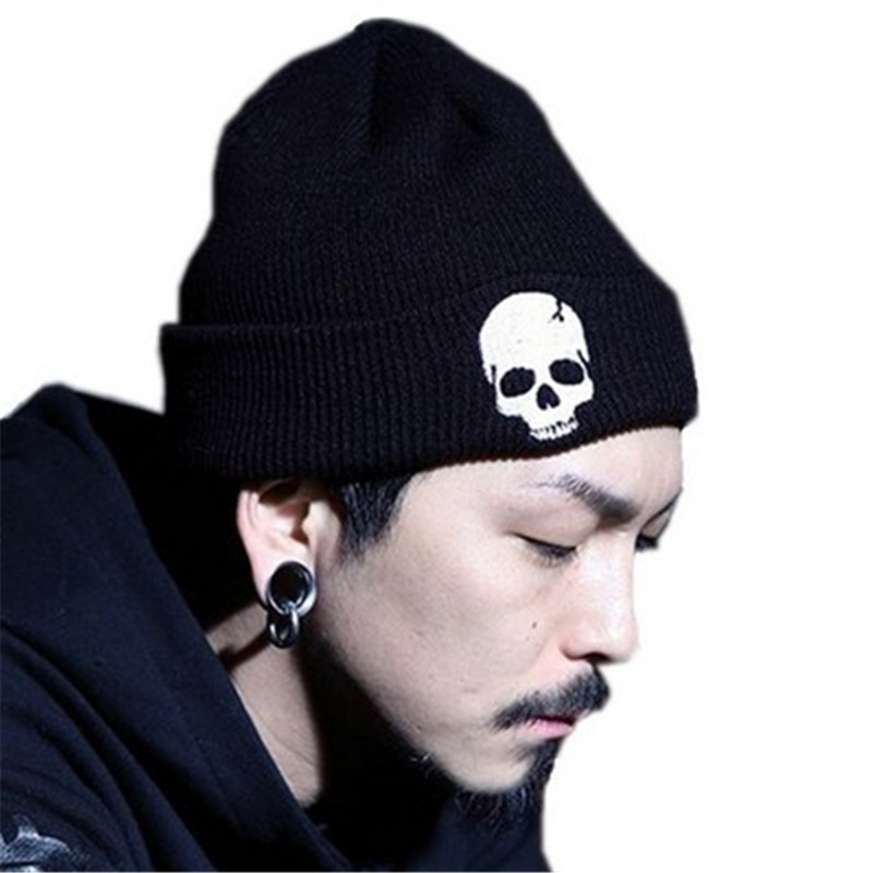 Mens Caps Skull Beanie Knitted Hats For Women Autumn Skullies Beanies Hat Fashion Winter Warm Woolen Knit Hat Boys Caps Bonnet fine three dimensional five star embroidery hat for women girls men boys knitted hats female autumn winter beanies skullies caps