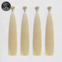 Fairy Remy Hair 0.8g/s 14 16 18 20 22 Fusion Flat Tip Hair Extensions Real Remy Double Drawn Keratin Pre Bonded Human Hair