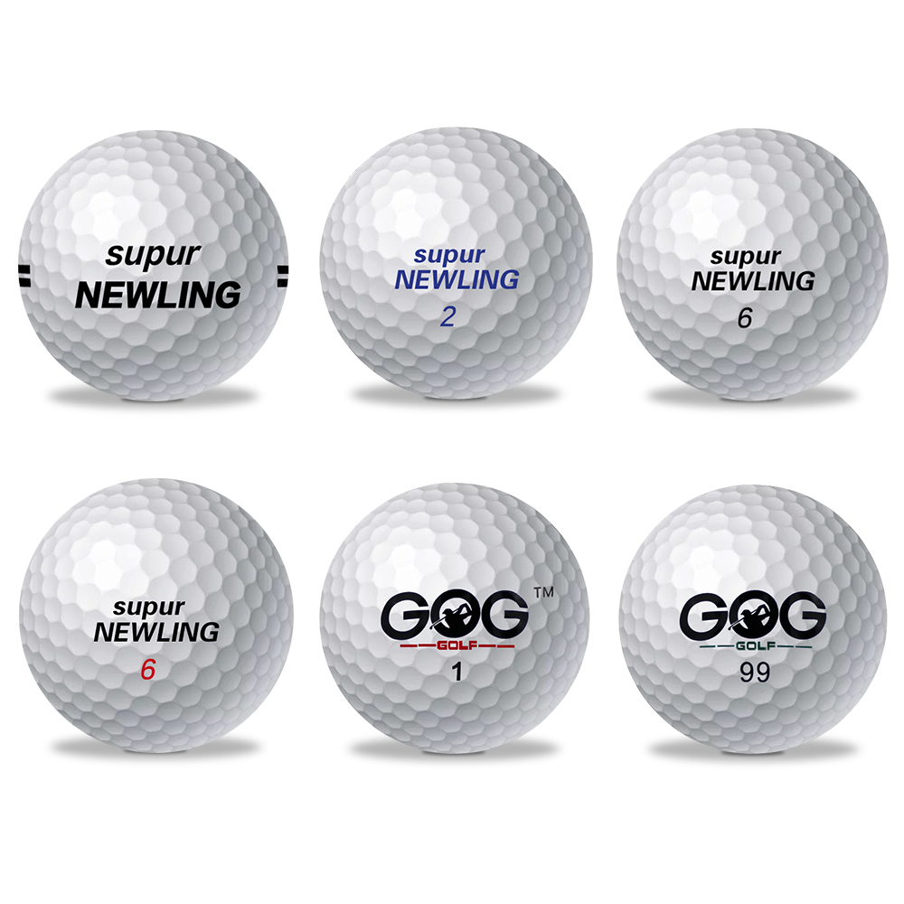 1 Pcs Golf Ball Brand GOG And Supur Newling Golf Balls Supur Long Distance Support Custom Logo