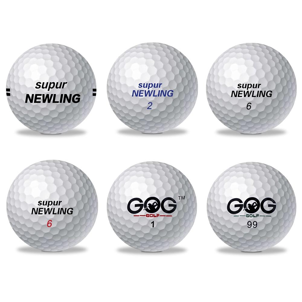 1 Adet Golf Topu Marka GOG Ve Supur Newling Golf Topları Supur Uzun Mesafe Desteği özel Logo