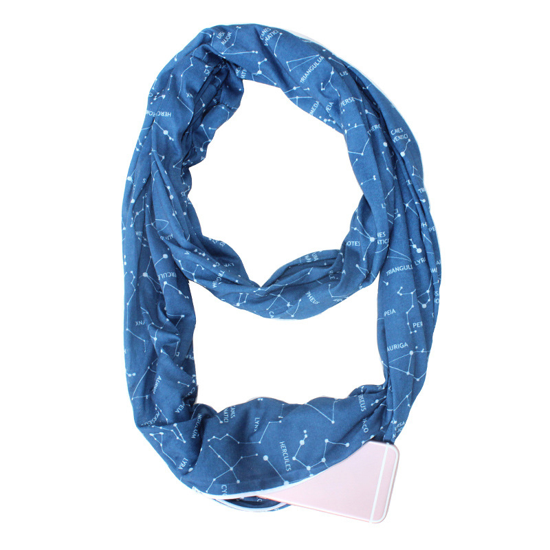 Convertible Infinity-Scarf With Pocket Loop Scarf Women Winter Zipper Pocket USA