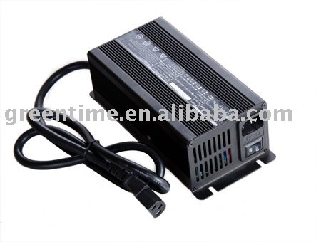 High Quality Aluminum Housing 48V (54.6V) 6A (amp) 13S Li-ion/LiPo Battery Charger for Electric Bike/Scooter Use
