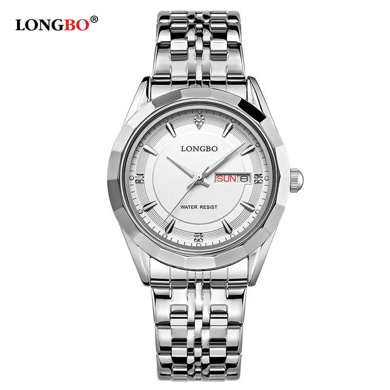 a13b03d8a23 ... LONGBO Brand Movt Quartz Watches Women Stainless Steel Back Water  Resistant Datejust Men s Wrist Watches relogio ...