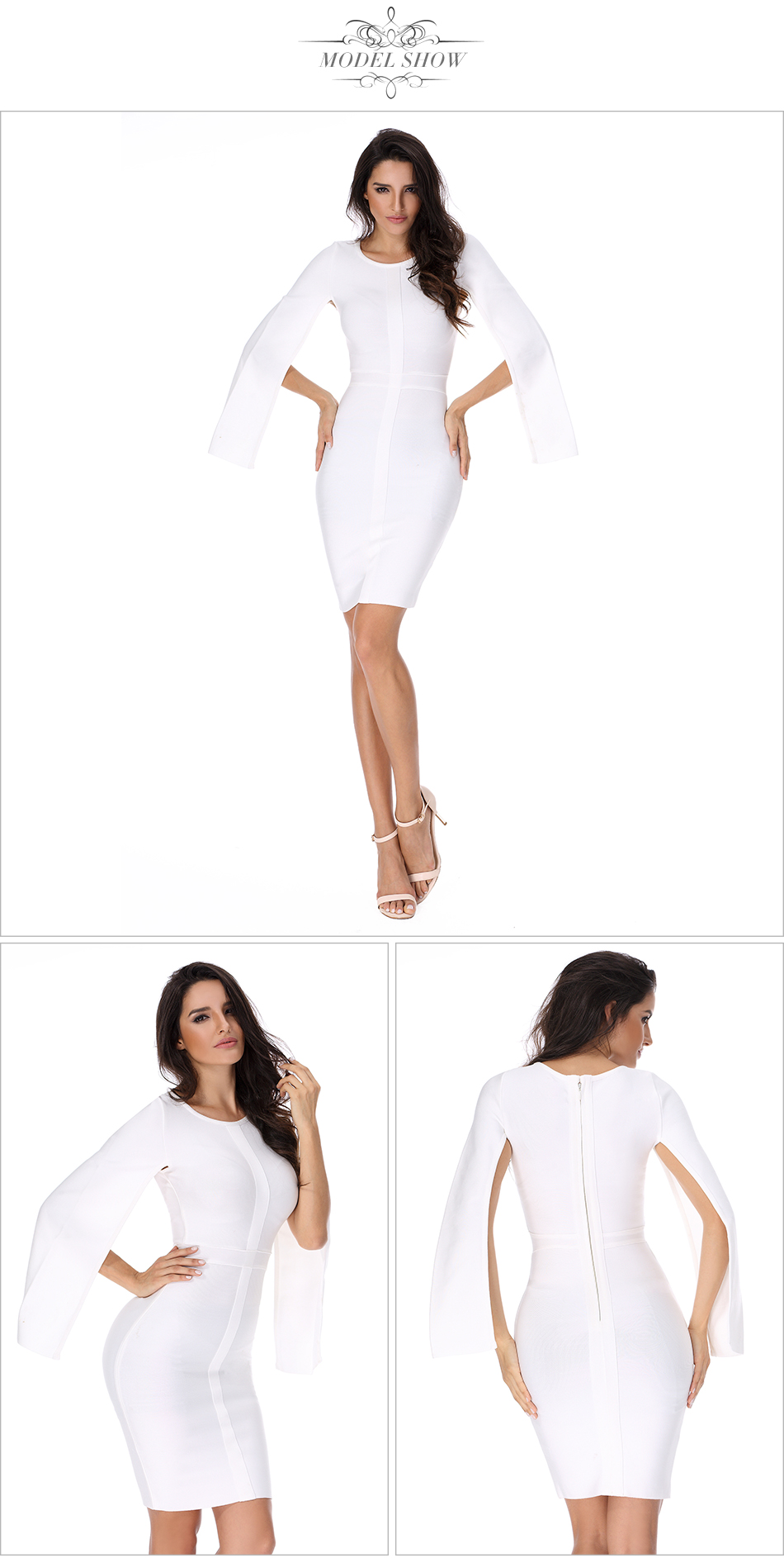 Bodycon Celebrity Batwing Sexy 5