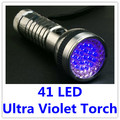 1 X 41 LED Portable Aluminium UV Ultra Violet Lamp Torch Flashlight for Camping Hunting Fishing  Free Shipping