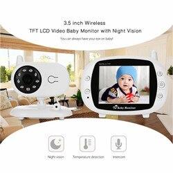 3,5 pulgadas TFT LCD de Video de dormir del bebé Monitor con visión nocturna TFT Monitor de bebé Cámara Digital Video niñera niñera