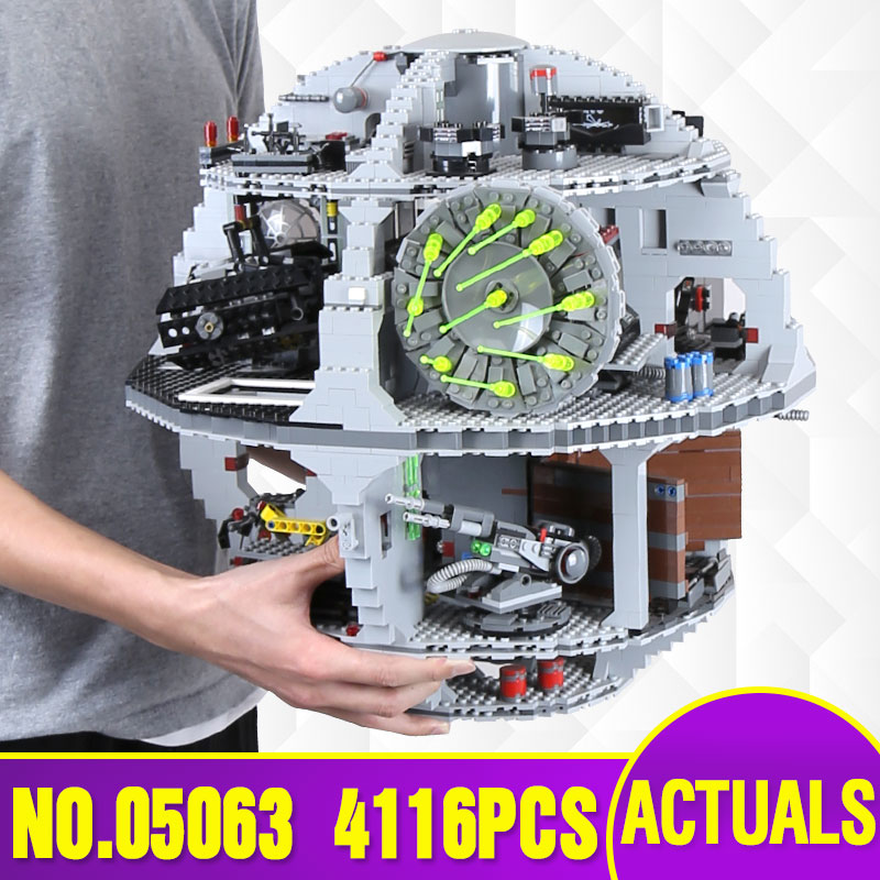 DHL Free Shipping Lepin 05063 4016pcs Star Plan Series Death Star Building Block Bricks Toys Kits Compatible legoing with 75159 bela 10464 star wars death star final duel bricks building block compatible with lepin