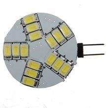 4 X G4 15SMD 5630 LED 12 V Spot Light Bulb 330-360LM Branco Frio