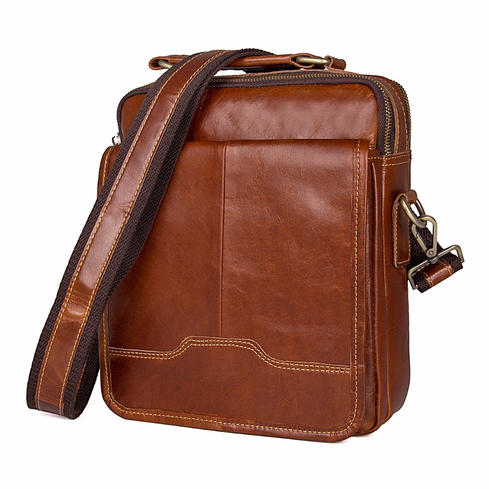 Augus Cow Leather New Products Simply And Vintage Style Flap Bag Handbag For Men's & Women's Bright Brown Messenger Bags 1018B simply computing for seniors