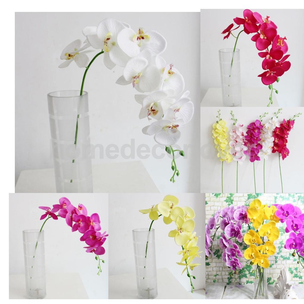 Orchid Flower Arrangements For Weddings: 93cm Long Stem Artificial Silk Phalaenopsis Butterfly