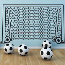 Best Price Football Goal Net Wall Stickers for kids room decoration DIY vinyl wall sticker