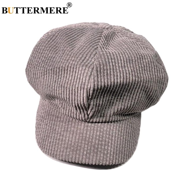 682d28bf066 buttermere men s autumn hat gray newsboy caps women corduroy vintage.