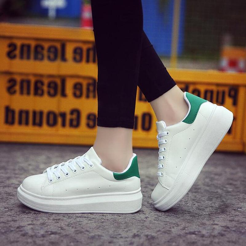 Zapatillas verde De Zapatos Invierno Mujeres Deporte Plataforma rosado 2019 Blancos Encaje oro Mujer Casual Negro wqYxBfOS