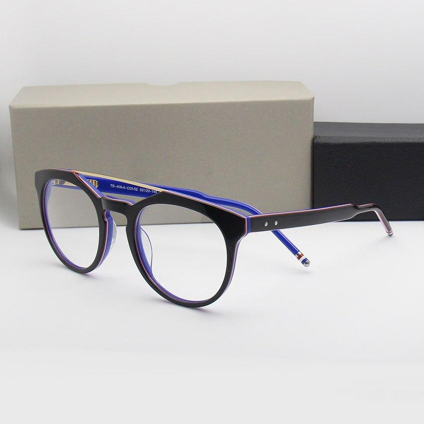Thom Brand Retro Acetate Eyeglasses Men Women Optical Prescription Glasses Frame Men s and Women s
