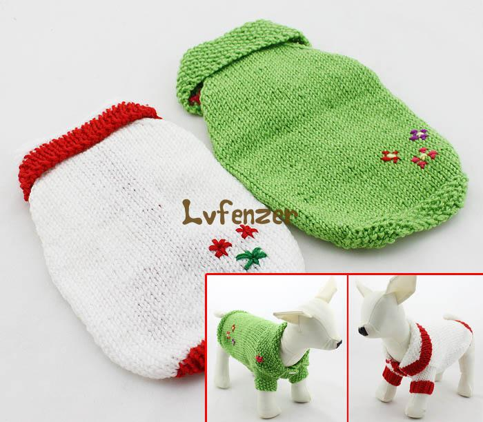 font b Pet b font Products Dog font b Supplies b font Sweaters acrylic Green