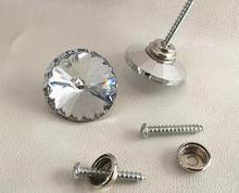 6size 1000pcs Satellite drill Glass Crystal Button nail Drilling Screws Soft bag Sofa nails rhinestone Furniture
