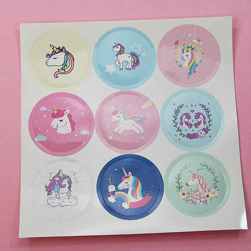 5 Pcs Kawaii Eenhoorn Stickers Leuke Handgemaakte Briefpapier Stickers Nieuwigheid Zelfklevende Stickers Voor Kids Diy Scrapbooking Foto 's Albums Snelle Kleur