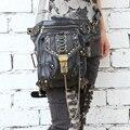 Горячие Моды Стимпанк Эксклюзивный Ретро Рок Готический мешок Пакеты сумки на ремне Мужчины Женщины ног leatherwaist мешок