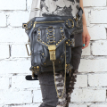 Hot Fashion Steampunk Exclusive Retro Rock Gothic bag Packs shoulder Bag Men Women leg leatherwaist bag