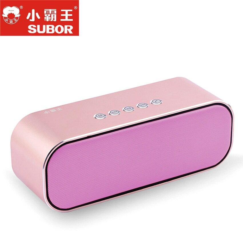 Subor D10 Portable extérieur étanche sans fil Bluetooth haut-parleur stéréo Hi-Fi boîtes Support TF carte FM Super basse haute qualité