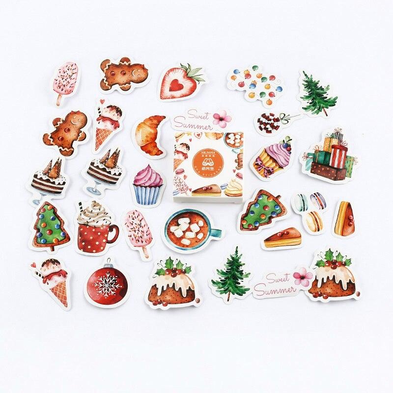 Mr. Бумаги 40 шт./кор. конфеты сказки деко наклейки для дневника Скрапбукинг планировщик японский Kawaii Декоративные Канцелярские наклейки - Цвет: B