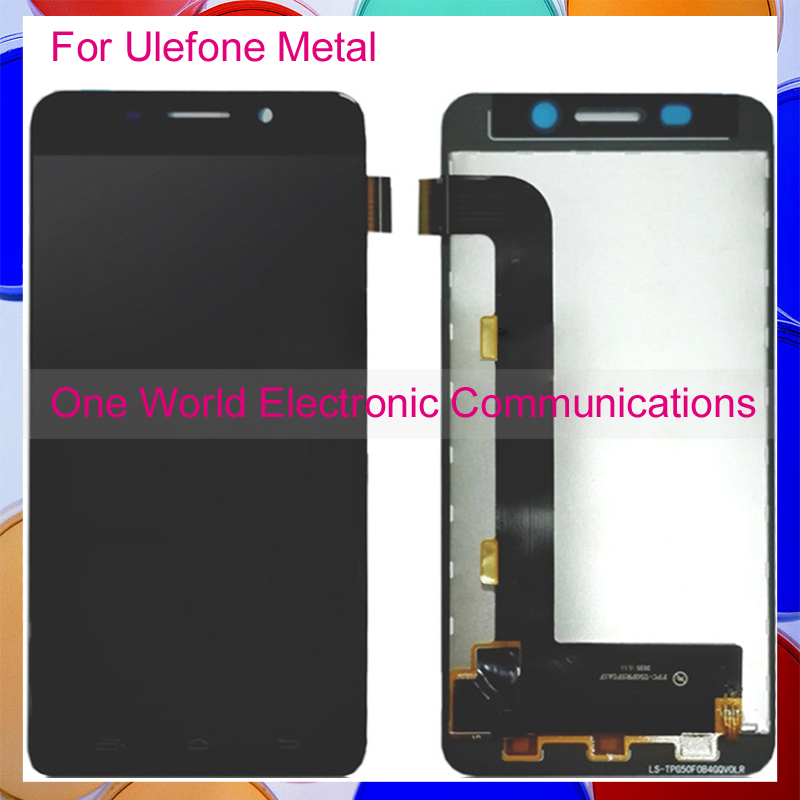 ФОТО High Quality Black For Ulefone Metal Phone Full LCD Screen Display Digitizer With Touch Screen Complete Assembly Tracking Code