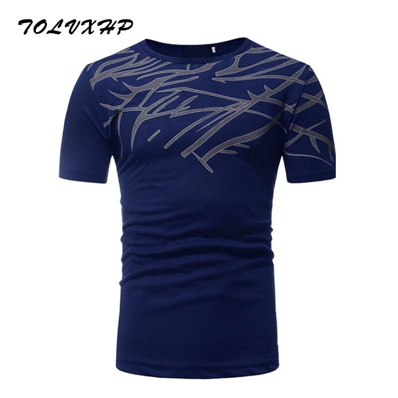 2018 Summer New Fashion Brand Clothing Tshirt Men Mesh Printing Slim Fit Short Sleeve T  ...