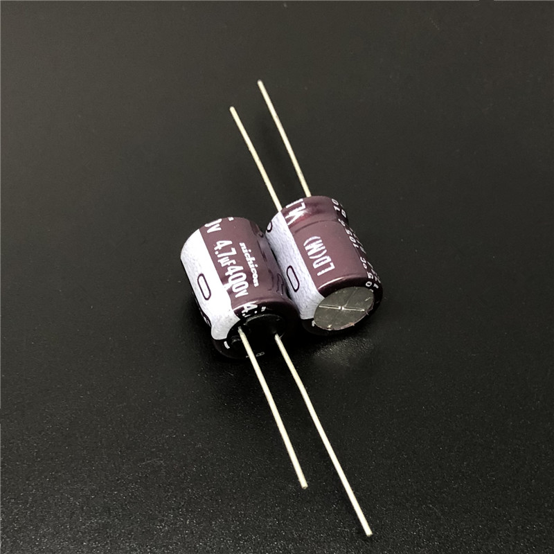 5pcs/50pcs 4.7uF 400V NICHICON LD Series 10x12.5mm High Ripple Current Long Life 400V4.7uF Aluminum Electrolytic Capacitor