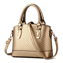 Casual Alligator Women Handbag High Quality Pu Leather Shoulder Crossbody Messenger Bags Solid Gold Zipper Clutch Plaid Sac W35