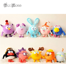 Hot Sale 25-30cm Russian Smeshariki Cartoon Dolls Stuffed Animals Plush Toys Kikoriki Toy for children Kids Gifts 10 styles 072