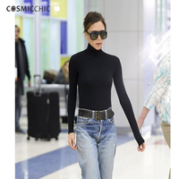 Cashmere PULLOVERS Long Sleeve Solid Knit Turtleneck Heaps Collar Sueter Sweater Top Tunic Jumper Basic Pull Femme LY055