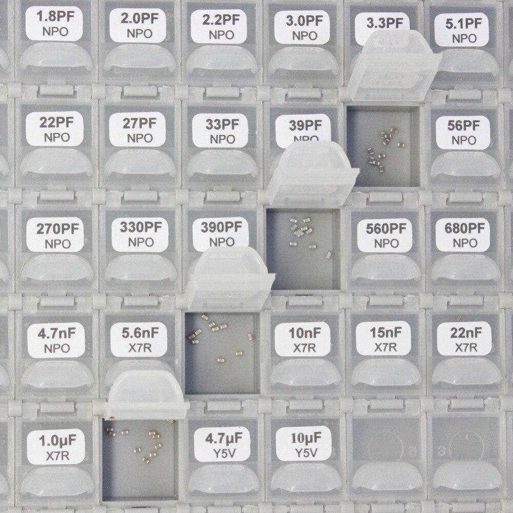 AideTek SMT / SMD 0603 méretű kondenzátor doboz szervező tároló - Szerszámtárolás - Fénykép 5