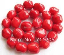 """Бесплатная доставка! 15-18 мм красный коралл Freeform свободные шарики 15 """", мин. заказ составляет $10, мы предоставляем смешанный Оптовая Продажа для всех деталей!"""