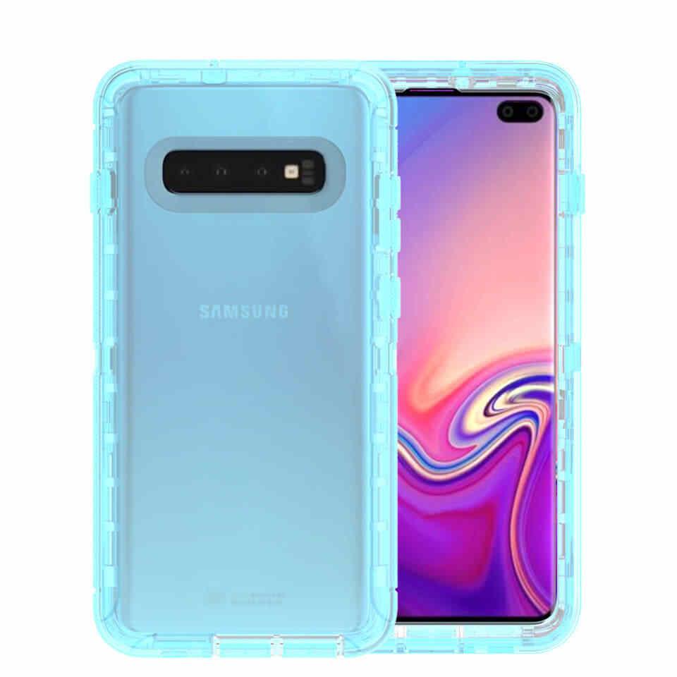 Chịu lực Chống Sốc Trong Suốt bao da kẹp điện thoại Ốp lưng Smasung Galaxy S10 5G Plus S10E S9 Plus s8 Plus Note 8 9 S7