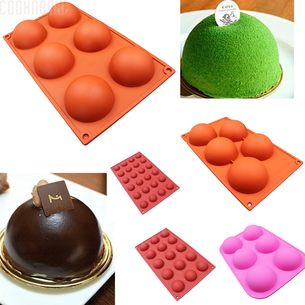 COOKNBAKE DIY 6 Selv Domed DIY Silicone Cake Mould Sæbe Mould Jelly Pudding Silicone Chocolate Mould slags 5