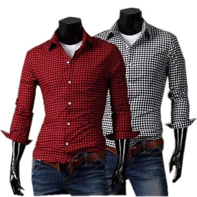 40b5df06846a5 i High Quality Red Shirts Fashion Men Gray Color Oxford shirts Linen Slim  Men Casual Long Sleeve Solid Shirts Men s Apparel en Camisas casuales de La  ropa ...