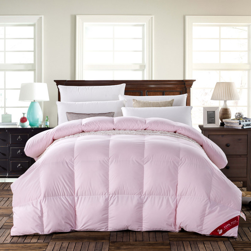 natural 90 duck down comforter queen king size 500fp quilt hypo allergenic bedroom breathe freely - Down Comforter Queen