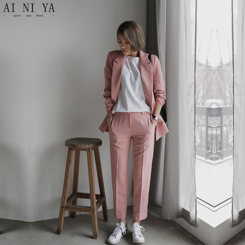 Women Pant Suits fashion summer 2 piece formal business suit for ladies women's workwear suits ladies trouser suits custom made