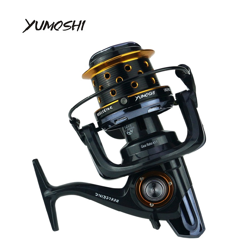 YUMOSHI 10000 size metal spool Jigging trolling long shot casting for carp and salt water surf spinning big sea fishing reel af8000 full metal spool jigging trolling long shot casting for carp and salt water surf spinning big sea fishing reel