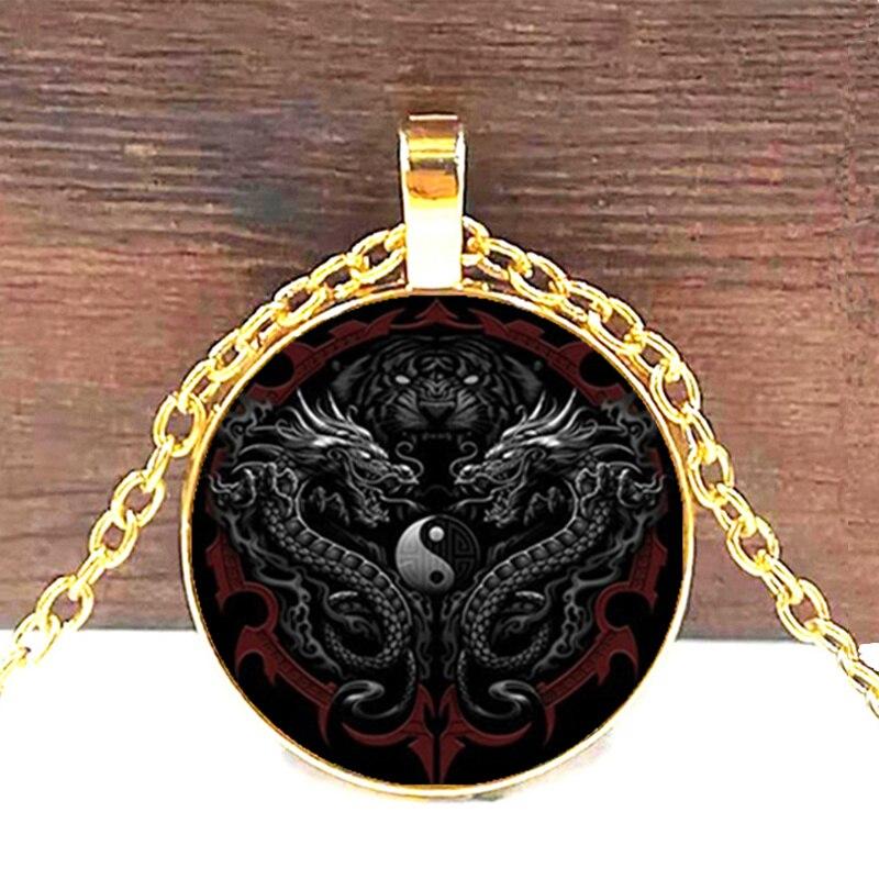 Yin Yang Dragon Pendant 3
