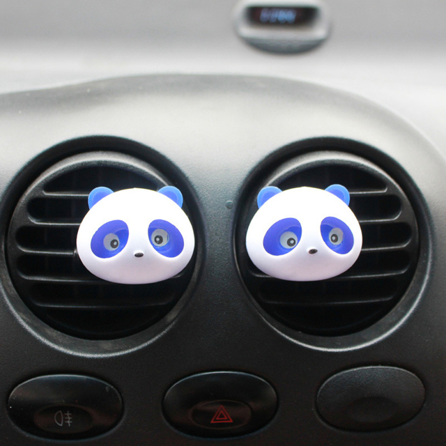 2Pcs/Set Car Perfume Clip Cute Panda Fragrance Air Freshener Auto Outlet Vent Decoration Fragrance Trim Ornament Accessory Gifts