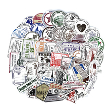 60pcs/lot Retro Traveling Boarding Pass Air Tickets creative Suitcase stickers for Laptop