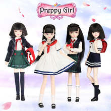 ICY DBS doll New xiaojing doll student series joint body bjd black hair including school uniform shoes 25cm